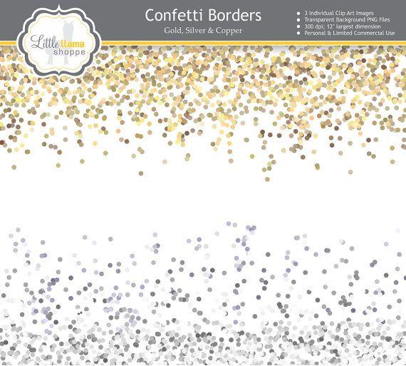 Sale Confetti Border Clip Art Gold Glitter Border Clipart Etsy Clip Art Clip Art Borders Anniversary Invitations