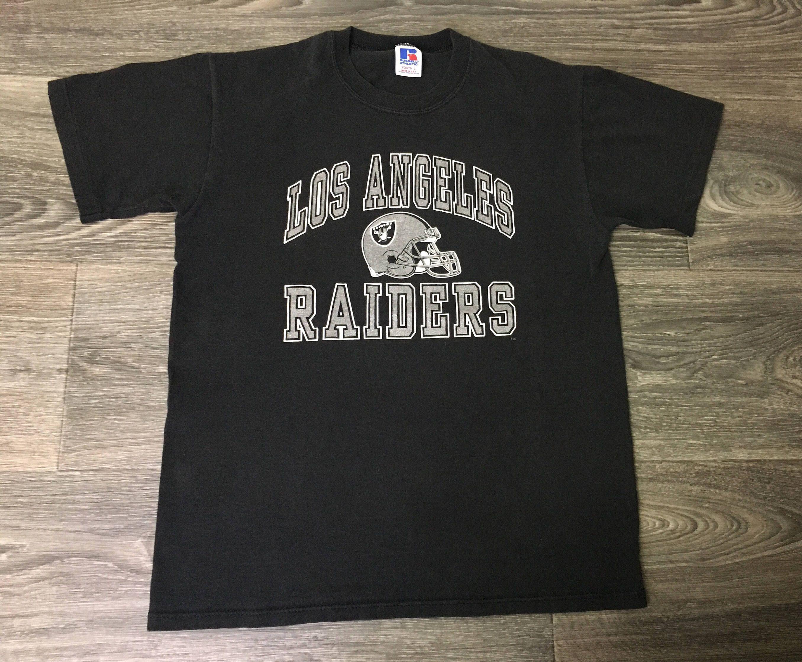 Raiders Shirt 80 S Vintage Los Angeles La Oakland Super Soft Tshirt Football Usa Made Nfl Youth Large Women S Small Raiders Shirt Football Usa Vintage Sports