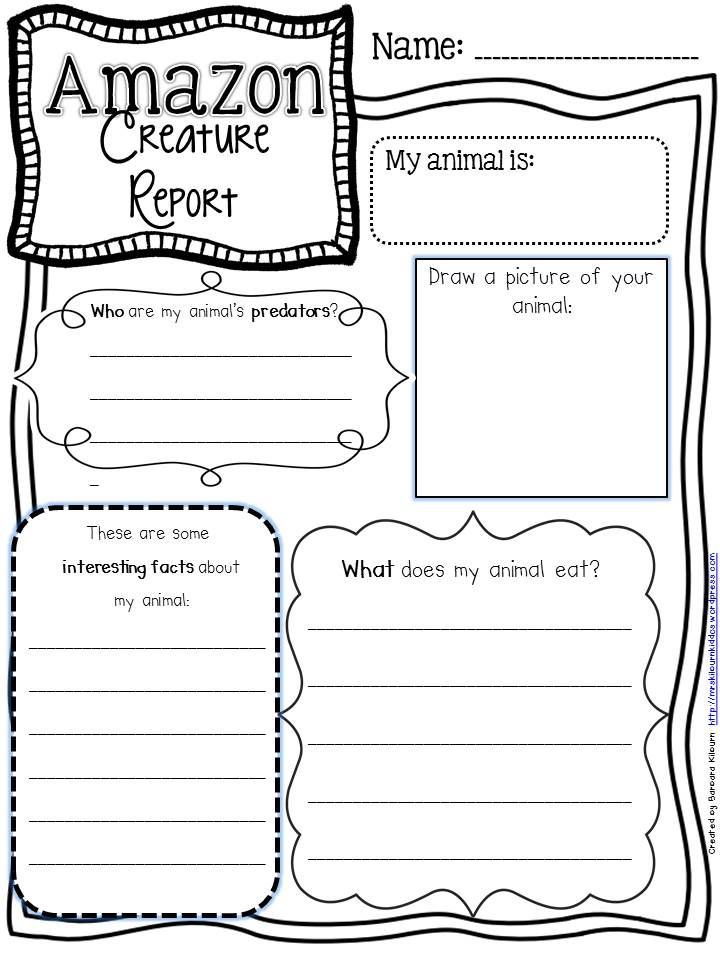 Teaching Major Events and Creature Reports… | Graphic organizers ...