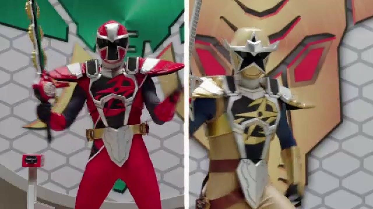Power Ranger Ninga Steel Levi Weston As A The Gold Power Ranger And His Brother Brody The Red Power R Power Rangers Ninja Steel Power Rangers Gold Power Ranger