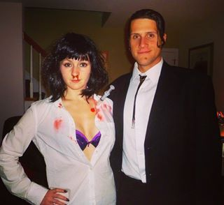 Mia Wallace and Vincent Vega from Pulp Fiction #pulpfictioncouplescostume