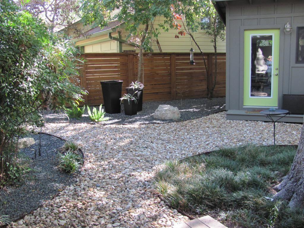 Image Of Hardscape Ideas Outdoor Backyard Regarding On A B Home Landscaping Modern