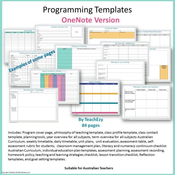 programming templates onenote cover