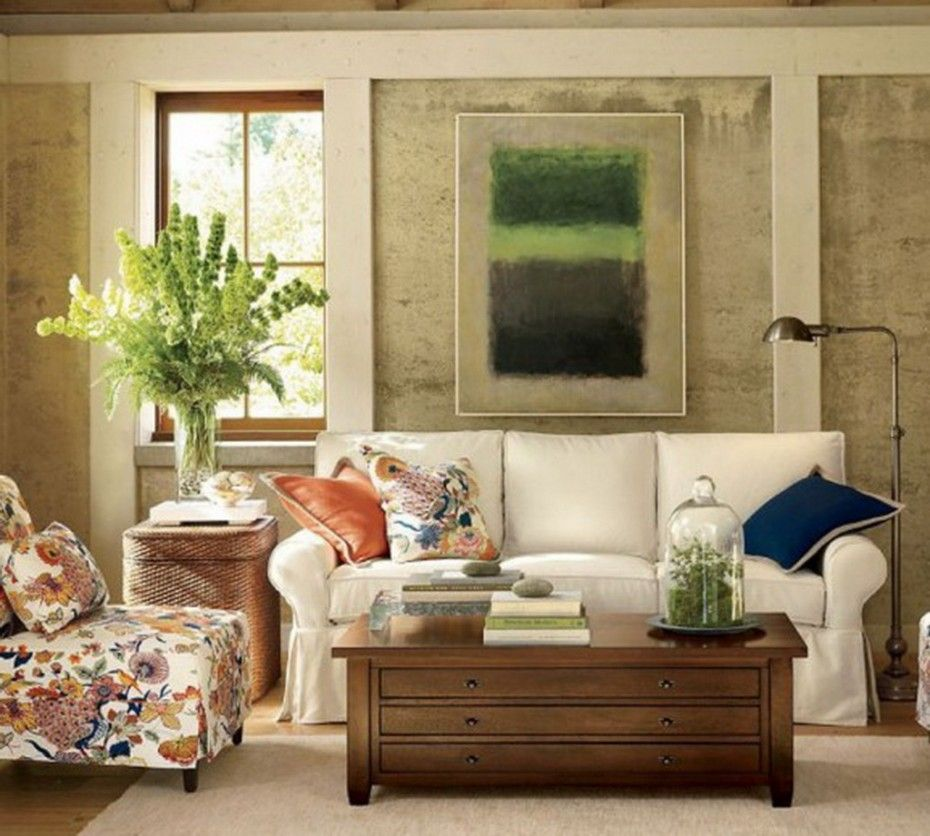 Antique decorating for living room, amazing colorful sofa, plants ...