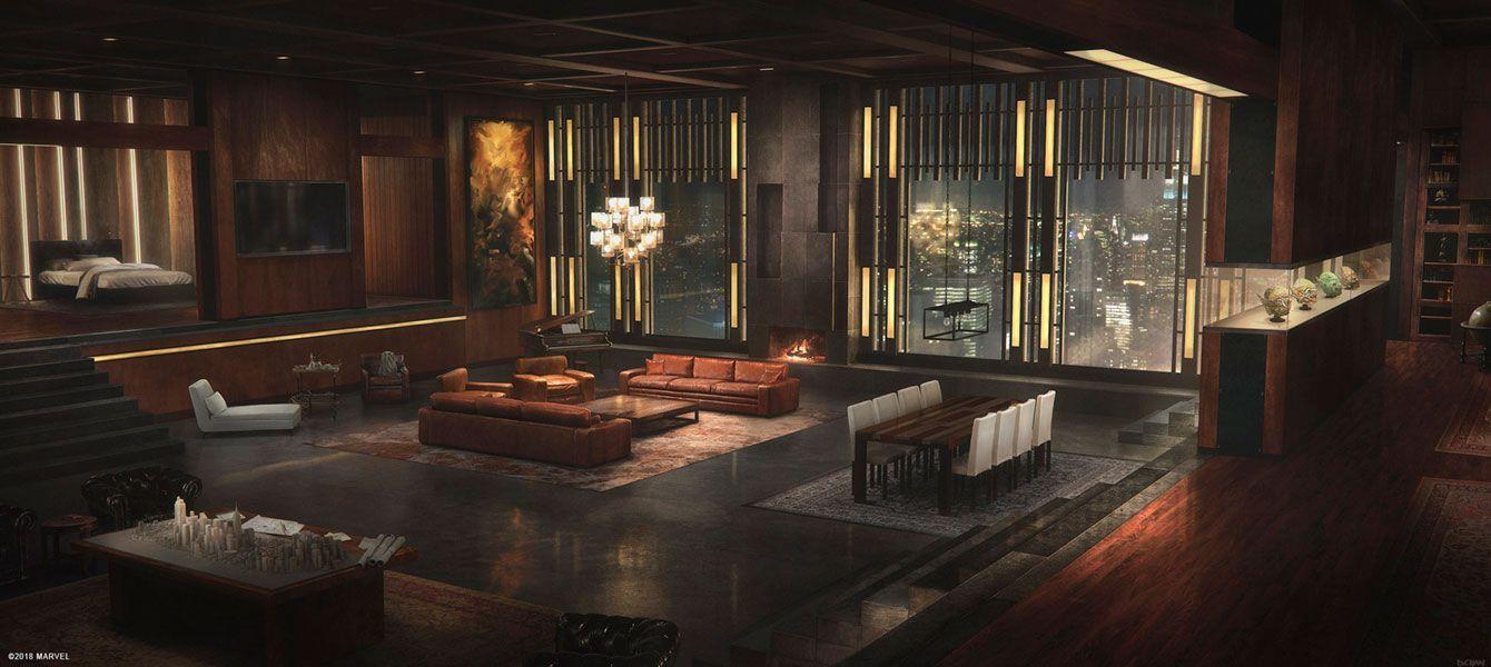 Norman Osborn S Apartment Environment Concept Art From Spider Man Illustration Artwork Gaming Video R Conceptart