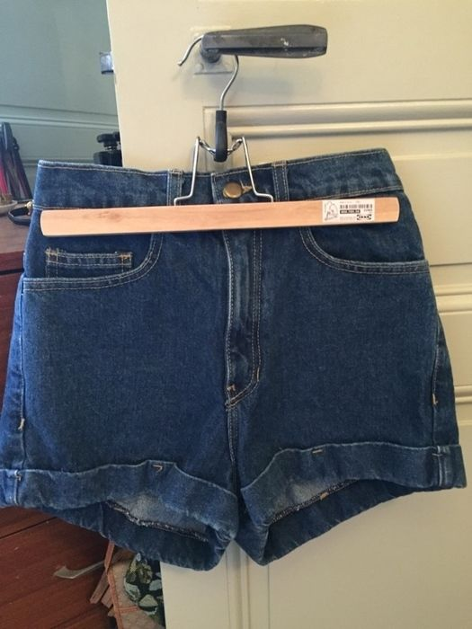 Must Have ! Short bleu taille haute American Apparel.  a5bf1d4f33a