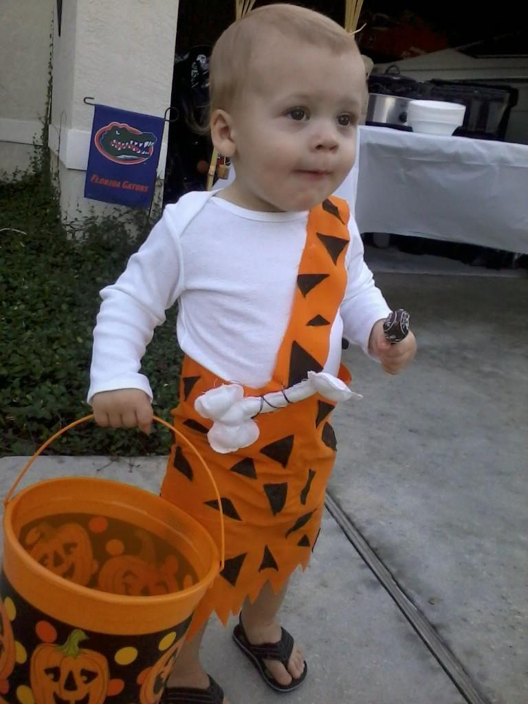 No Sew Bam Bam Costume Super Easy Baby Halloween