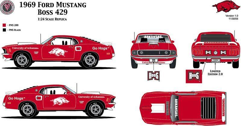 Ford Mustang Boss 429 (1969) | SMCars.Net   Car Blueprints Forum