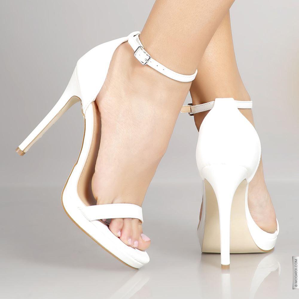 841a5acf45bec9 Escarpins à talons hauts blanc taille 38, achat en ligne Sandales femme sur  MODATOI