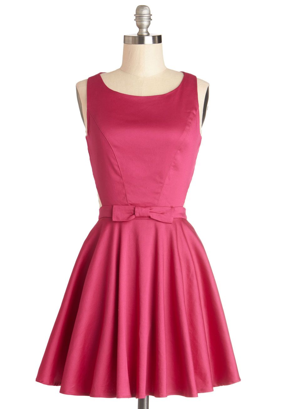 1950s inspired pink bridesmaids dress Classic Twist Dress in Magenta ...