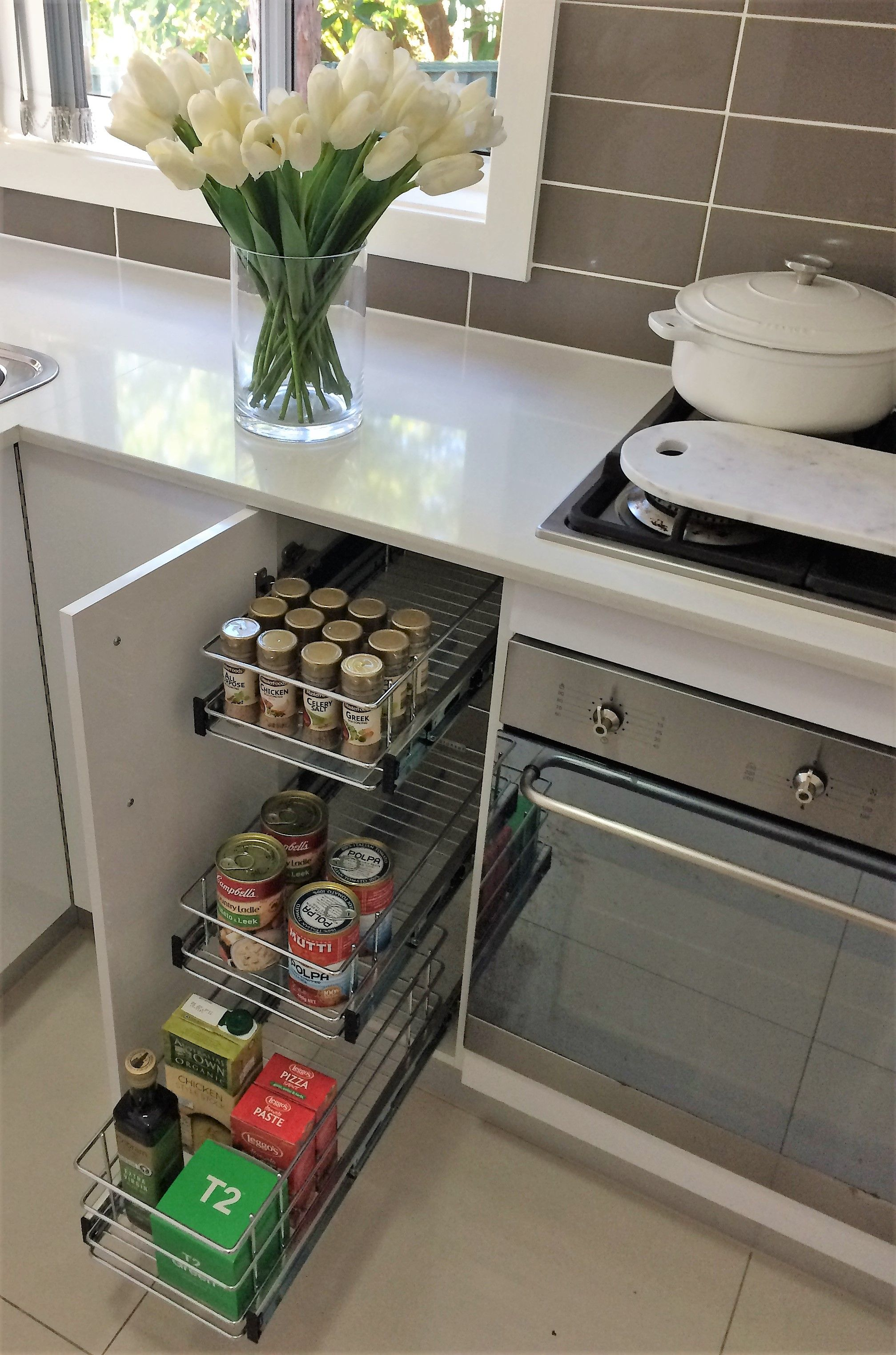 Pull Out Wire Baskets For Narrow Kitchen Cupboard Storage Tansel Storage Kitchen Design Small Kitchen Organization Pantry Narrow Cabinet Kitchen