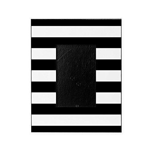 CafePress - Chic Black And White Stripes - Decorative 8x1...