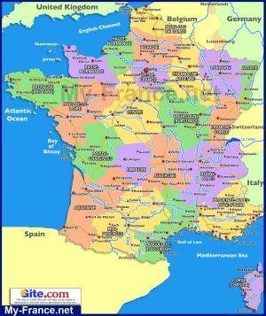 Karta Francii Po Regionam S Izobrazheniyami Franciya Karta Gorod