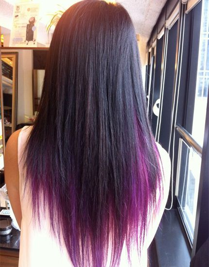 Ideas For Hair Chalking Natural Hair 2016 Purple Underneath Hair Underlights Hair Purple Brown Hair
