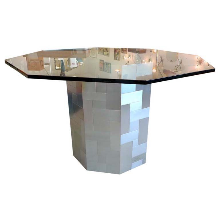 Paul Evans (signed) Octagonal Cityscape Pedestal Dining Table