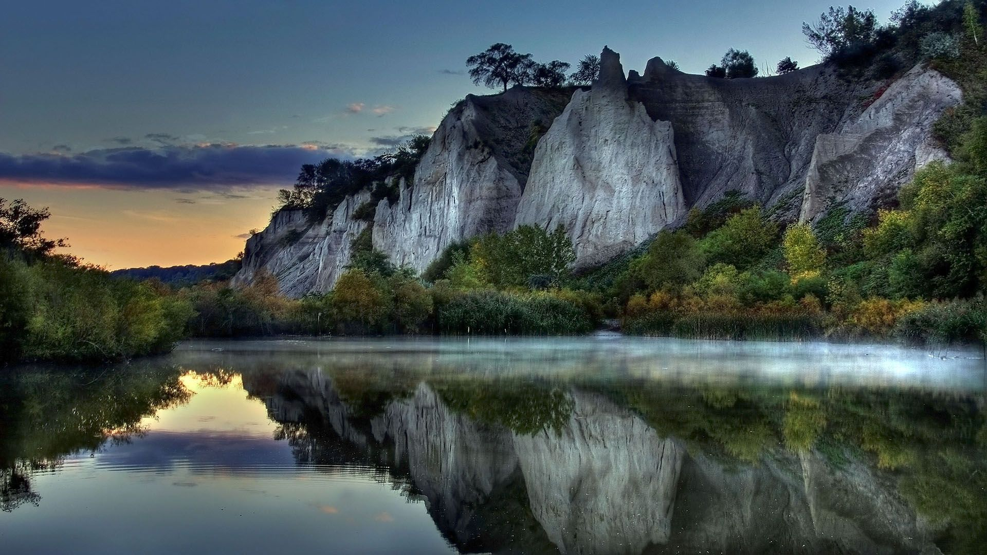 Hd wallpaper river - Full Hd Nature Wallpaper 1080p For Desktop With River And Hill Photo
