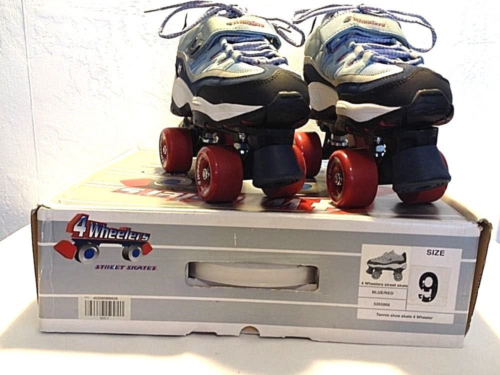 b5f8315b12 TENNIE SHOES 4 Wheelers Street Skates Women's Size 9 NAVY, GRAY, AND RED  #4Wheelers