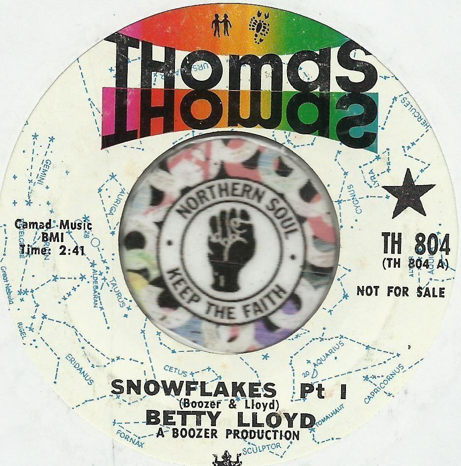 BETTY LLOYD Snowflakes NORTHERN SOUL CHRISTmas R&B PROMO DJ 45 RPM ...