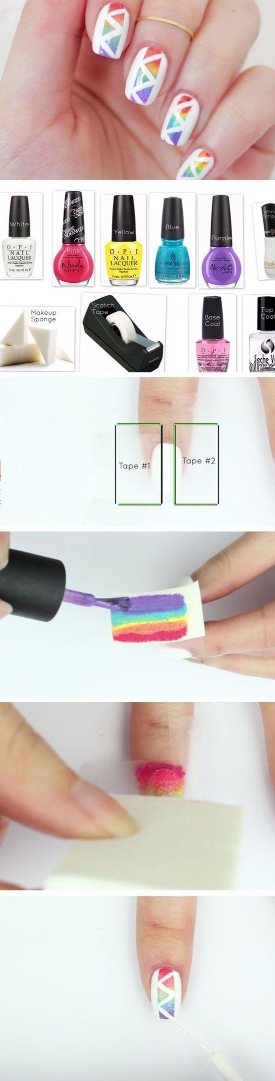 47 Summer Nail Designs for Short Nails - Nail art | Pinterest ...