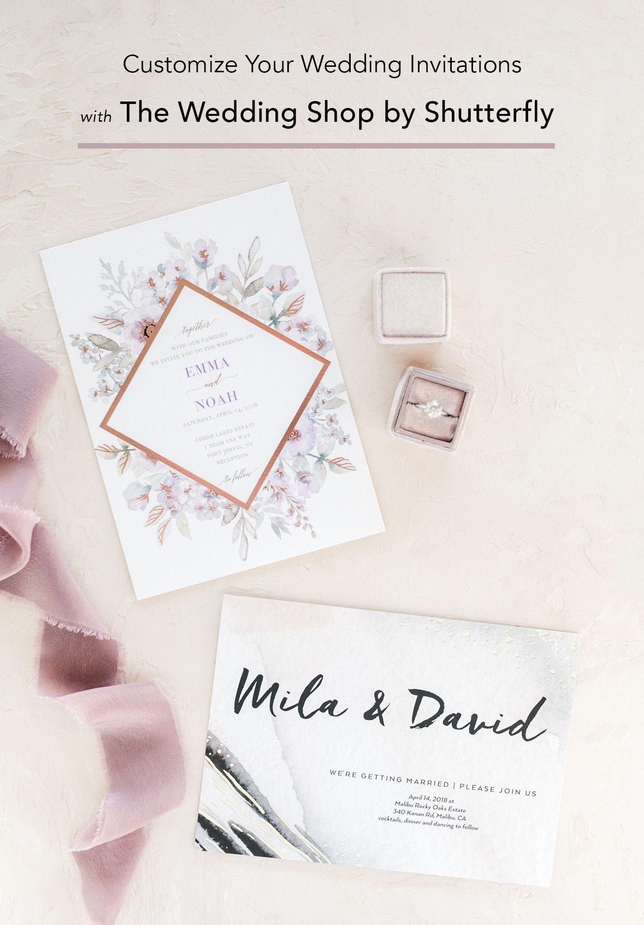 Custom Wedding Invitations with The Wedding Shop by