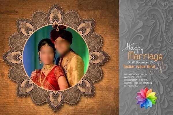 Wedding Album Cover Design 12x18 PSD Templates in 2020 ...