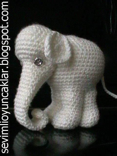 Amigurumi White Elephant Pattern by Denizmum on Etsy, $7.00 ...