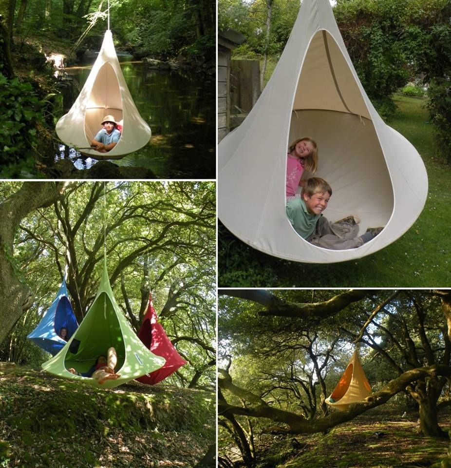 Cacoon is a great combination of a swing chair, hammock