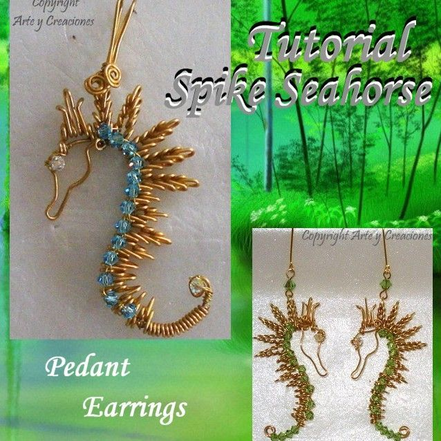 Tutorial for making Spike Seahorse pendant and earrings!