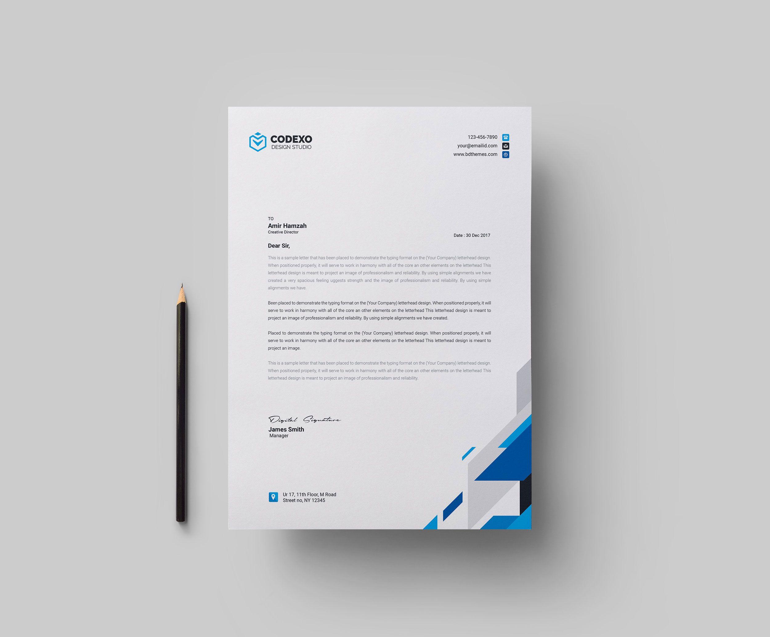Elegant Letterheads Design Letterhead Design Letterhead