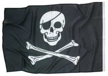 Piratenfahne Jolly Roger Ca 92 X 60 Cm 1 Piratenflagge