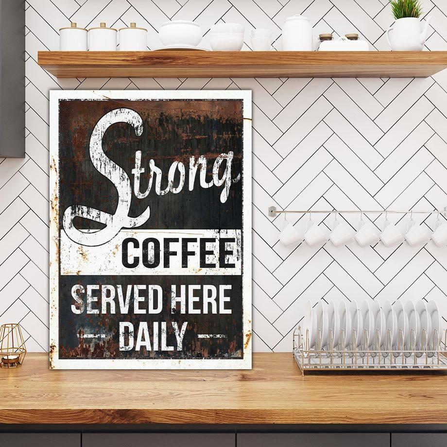 Coffee Art Vintage Sign Wall Art Canvas Art Latte Art Coffee