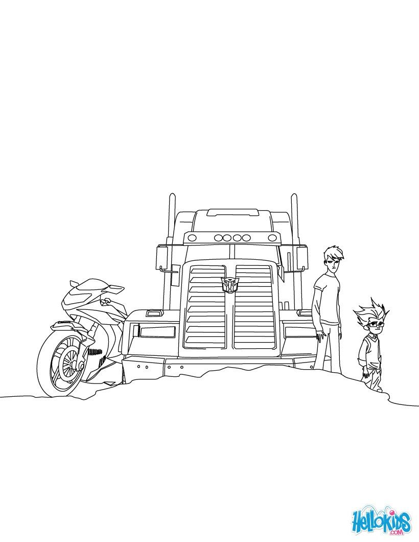 Optimus Prime Coloring Page From Transformers Tv Serie More Transformers Content On Hellokids Com Transformers Prime Coloring Pages Prime Colors