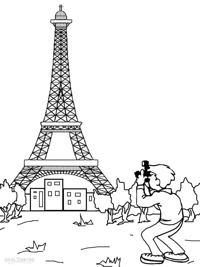 Eiffel Tower Coloring Pages Eiffel Tower Drawing Coloring Pages