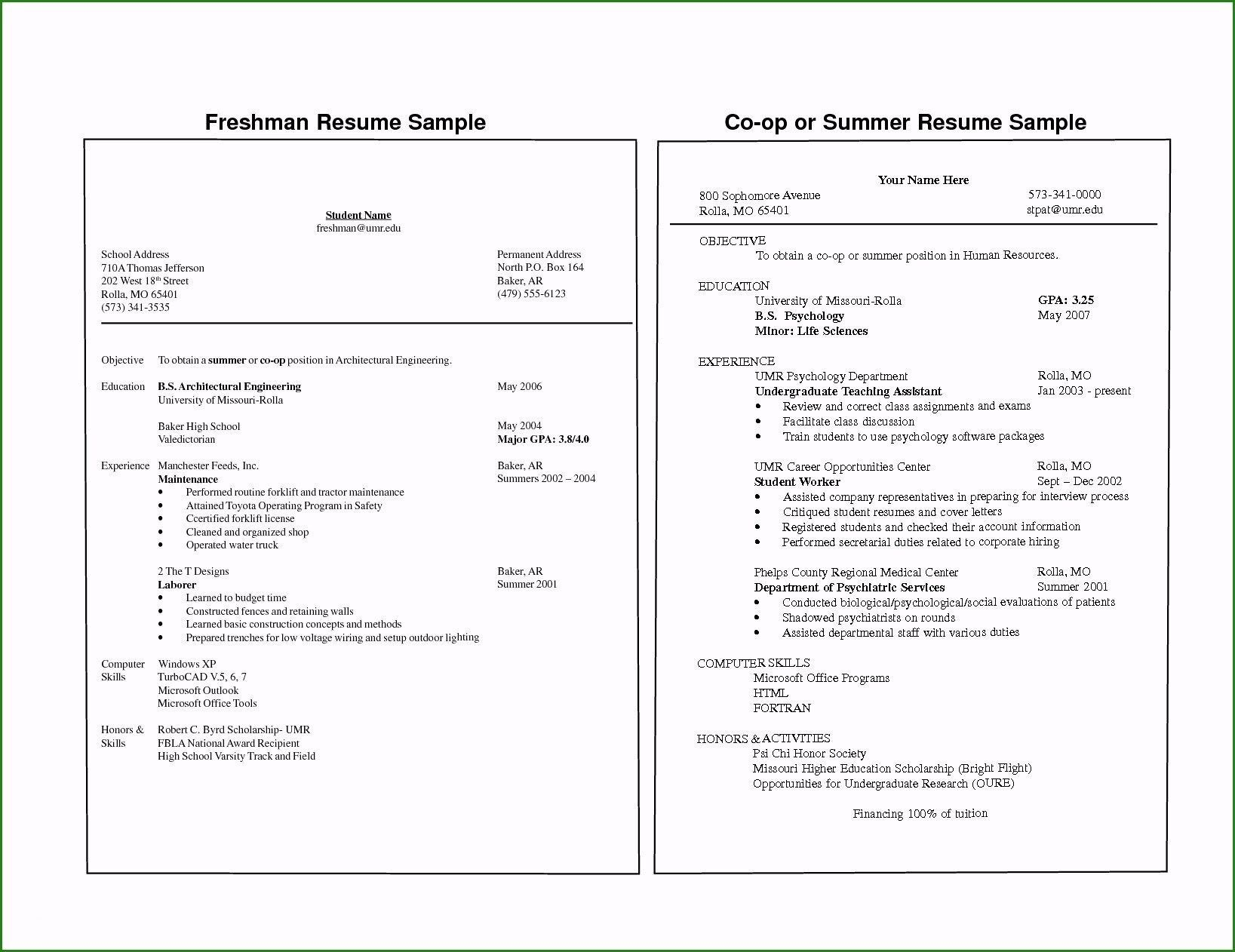 College resume template, how is to develop it well? Just