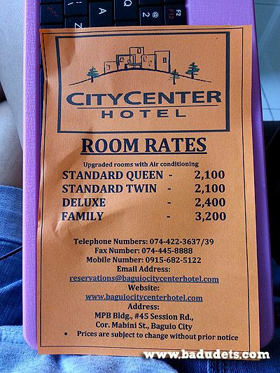 City Center Hotel In Baguio Everything Nice