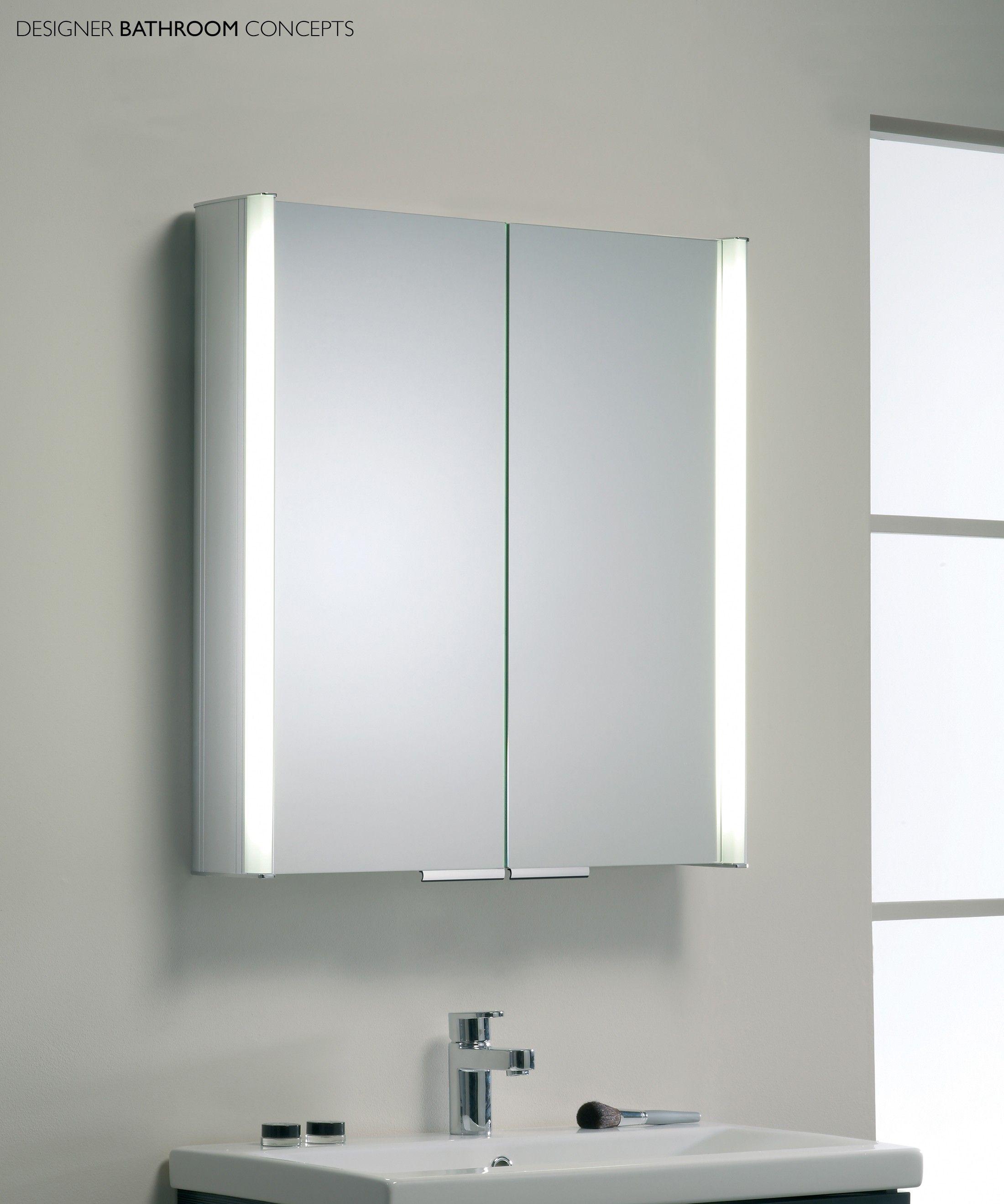Coolbrilliant Illuminated Bathroom Mirror Cabinet Bathroom