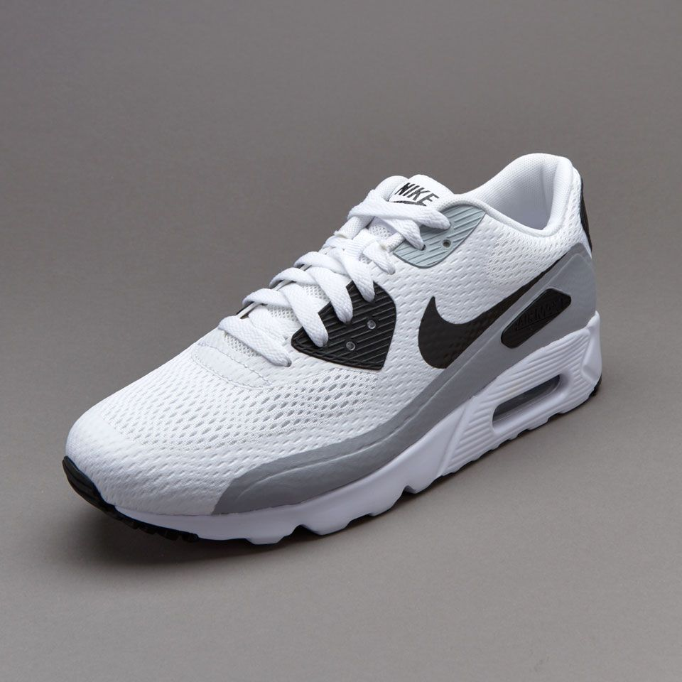 Mens Shoes - Nike Sportswear Air Max 90 Ultra Essential - White / Black /  Wolf Grey - 819474-100