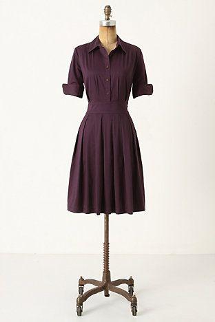 make a shirtdress in a pretty plum