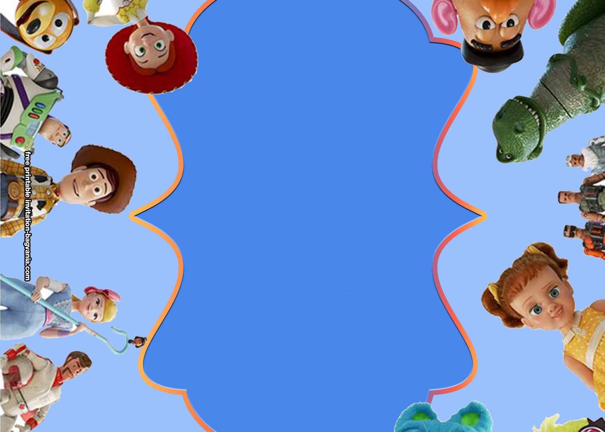 Free Toy Story 4 Birthday Invitation Templates Toy Story Invitations Printable Birthday Invitations Toy Story Birthday