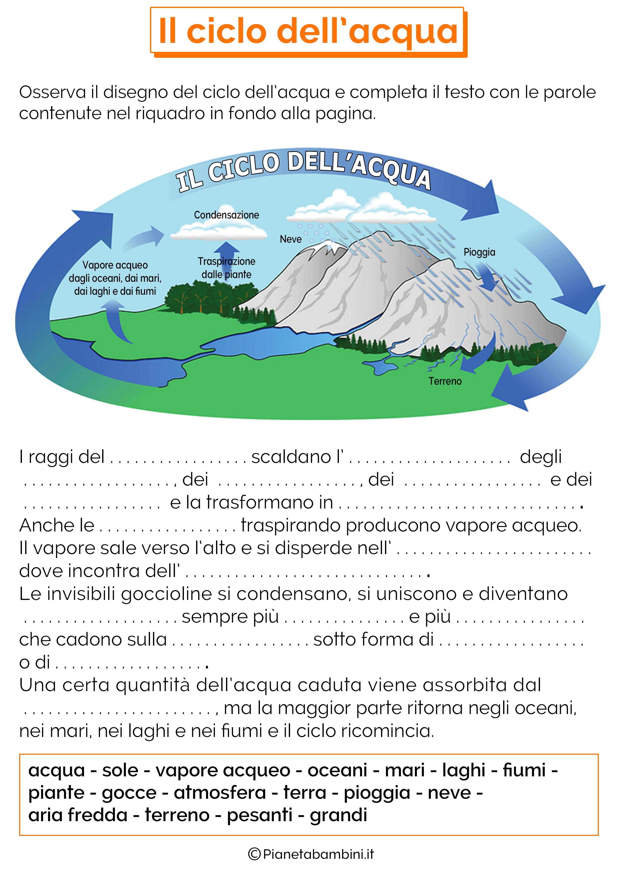Risultati Immagini Per Il Ciclo Dellacqua Scuola Primaria