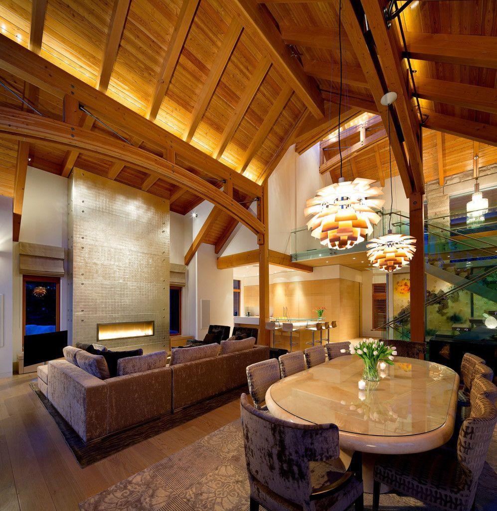 Luxury timber frame mountain retreat in whistler luxury