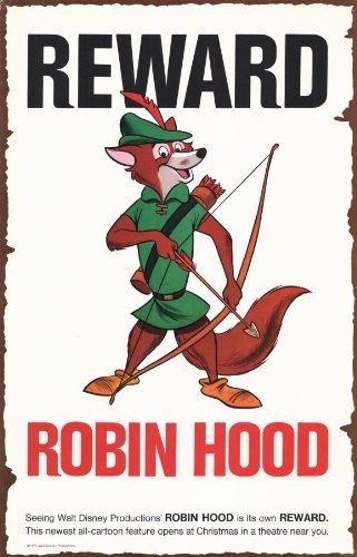 Robin Hood Poster Movie C 11x17 Roger Miller Brian Bedford Monica Evans Phil Harris postersdepeliculas