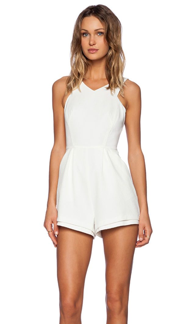 Minty Meets Munt Lose Yourself Playsuit in Ivory