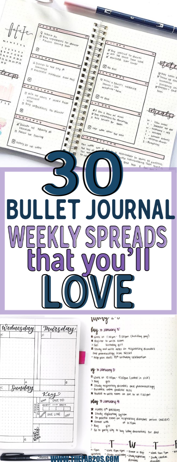 30 Amazing Bullet Journal Weekly Spreads You'll Want To Steal #septemberbulletjournalcover