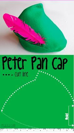 peter pan cap guide how to make a felt hat for halloween. Black Bedroom Furniture Sets. Home Design Ideas