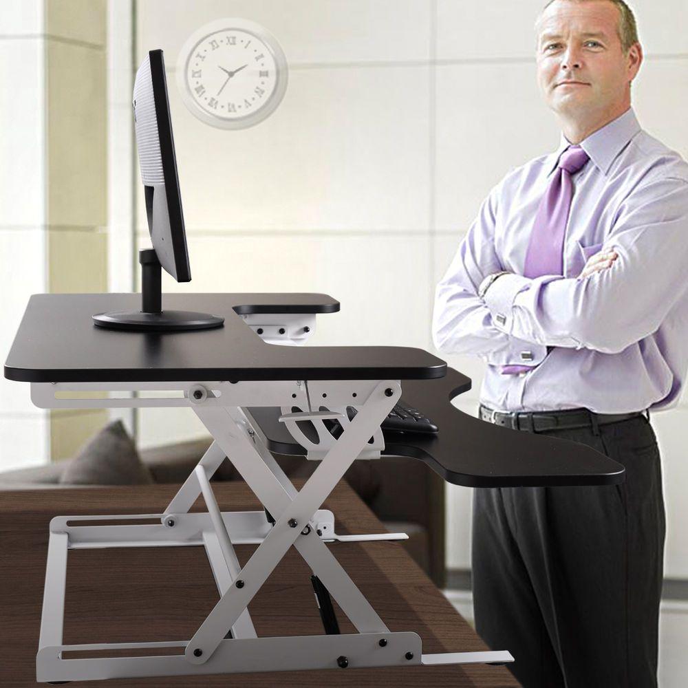 Adjustable Height Stand Up Desk Computer Workstation Lift Rising