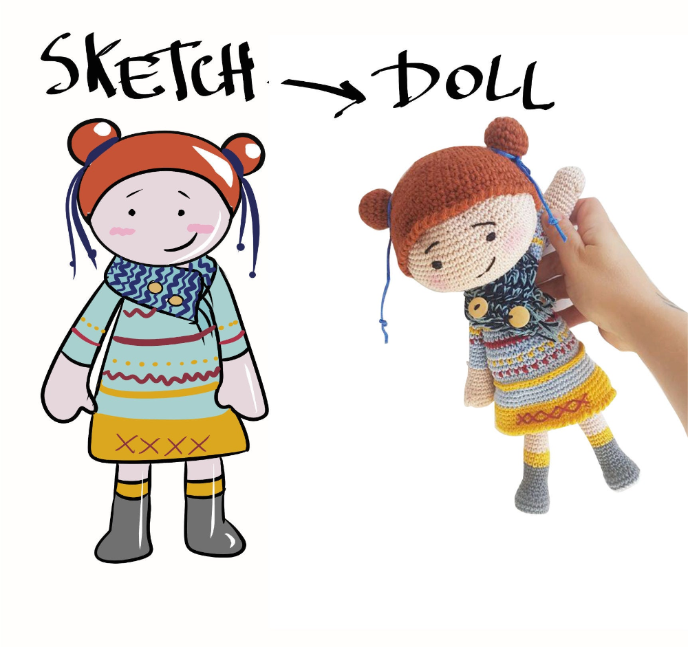 Mini Pet Doll Personalized Dog Crochet Doll Custom Pet Portrait Doll Your Own Photo Amigurumi Doll Look A Like Gifts