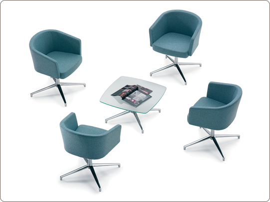 #Zone - #Breakout and #informal #meeting areas can be enhanced by the presence of Zone. #Chrome leg, #cantilever or round base options are available.
