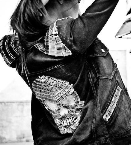 Gori de Palma SS 2011 Safety pins skull jacket  #MicraAttitude #nederland