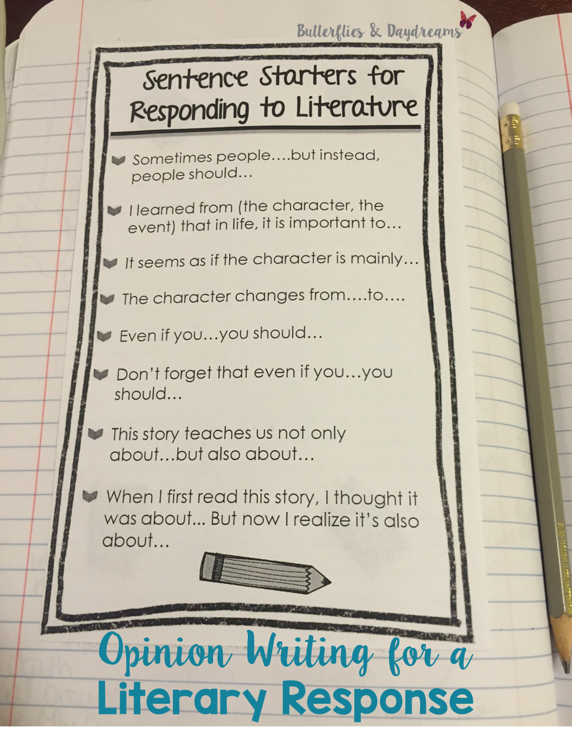 Literary Response Opinion Essay Unit Grades 3 5